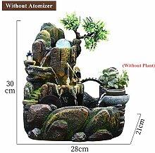 LWLJCFFF Indoor Brunnen Steingarten Tabletop
