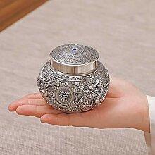 LWSJP Handgefertigte Teekanne Sterling Silber Tea