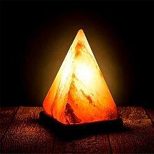 LWW Led-Schreibtischlampe -Pyramide Art Salz-Lampe