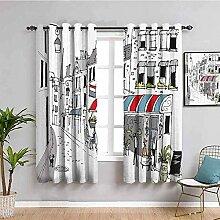 LWXBJX Blickdicht Vorhang für Schlafzimmer -