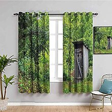 LWXBJX Blickdicht Vorhang für Schlafzimmer - Wald