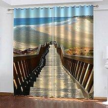 LWXBJX Blickdicht Vorhang für Schlafzimmer