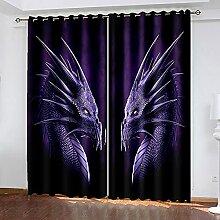LWXBJX Gardinen Blickdicht für Schlafzimmer
