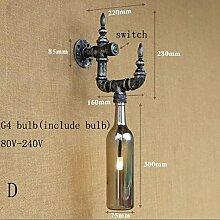 LWYJRBD Wandleuchte Wandlampe/Design Loft G4