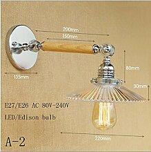 LWYJRBD Wandleuchte Wandlampe/Loft Industrial LED