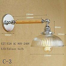 LWYJRBD Wandleuchte Wandlampe/Loft LED Wandleuchte