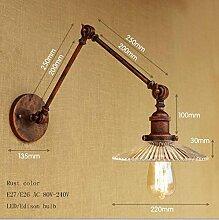LWYJRBD Wandleuchte Wandlampe/Loft Wandlampe Glas