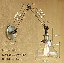 LWYJRBD Wandleuchte Wandlampe/Loft Wandleuchte