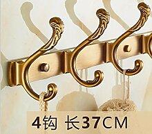 LX.AAH Antike Kleiderhaken Continental Dragnets Wände Kleiderbügel Badezimmer Kleiderhaken an der hinteren Tür der Nostalgie für die Kleiderhaken Kleiderhaken, 1. Generation 4 Antike Haken