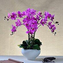 Lx.AZ.Kx Continental Ornamente künstliche Blumen und Pflanzen Home Zubehör Keramik Blumenvasen Blumenkunst Ornamente Blumen dekoriert, Violett)