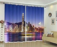 LX-Curtains Isoliert Verdunklungsvorhänge, 3D
