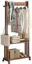 LXD Kleiderbügel, Garderobenständer Massivholz