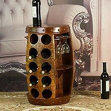 LXD Weinregal Weinfass Beistelltisch Schrankfass