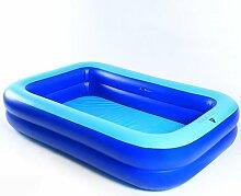 LXF Aufblasbare Badewanne Aufblasendes Schwimmbecken Erwachsener Schwimmen Home Spiel Pool Kind Ozean Ball Pool Blau Reise tragbar ( größe : S )