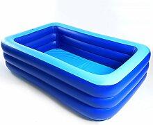 LXF Aufblasbare Badewanne Aufblasendes Schwimmbecken Erwachsener Schwimmen Home Spiel Pool Kind Ozean Ball Pool Blau Reise tragbar ( größe : L )