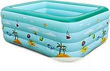 LXF Aufblasbare Badewanne Baby Schwimmbad Home Aufblasbare Bad Spiel Pool Reise tragbar ( Farbe : Blau , größe : 210cm )
