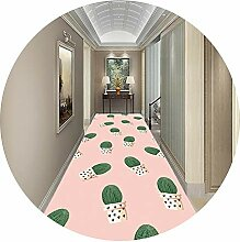 LXF Flur teppich Rosa Korridor Teppich Mit Pflanze