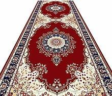 LXF Flur teppich Roter Flächenteppich mit