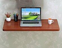 LXF Wandtisch Wandklapptisch Wandtisch Klapptisch Esstisch Computer Schreibtisch Schreibtisch Lernen Arbeit Hause Teak farbe ( größe : 80*30cm )