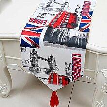 LXHZQ Tischläufer Tabelle Flag Britischen