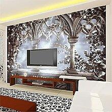 LXiFound Fototapete 3D Effekt -Architektur Blume