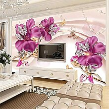 LXiFound Fototapete 3D Effekt -Blume Diamant