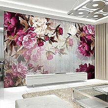 LXiFound Fototapete 3D Effekt -Blume Gouache