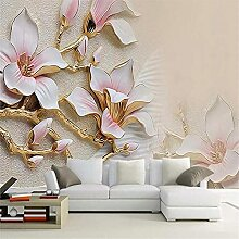 LXiFound Fototapete 3D Effekt -Blume Kunst