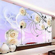LXiFound Fototapete 3D Effekt -Blume Pflanze Blase