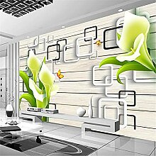 LXiFound Fototapete 3D Effekt -Blume Pflanze