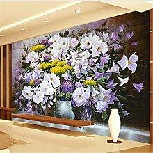 LXiFound Fototapete 3D Effekt -Blume Pflanze Kunst