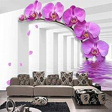 LXiFound Fototapete 3D Effekt -Blume Weiß Pflanze
