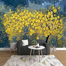 LXiFound Fototapete 3D Effekt -Pflanze Baum Blau