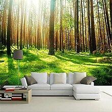 LXiFound Fototapete 3D Effekt -Pflanze Grün Baum