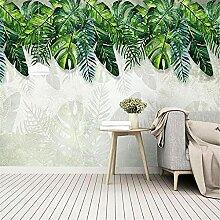 LXiFound Fototapete 3D Effekt -Pflanze grün