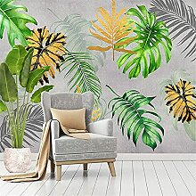 LXiFound Fototapete 3D Effekt -Pflanze nordisch