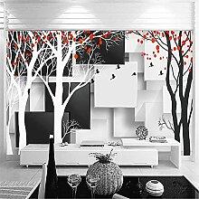 LXiFound Fototapete 3D Effekt -Schwarz und Weiß