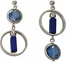 Lxj Runde Ohrringe Damen Accessoires Meer Blau