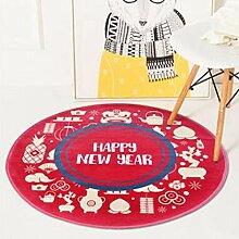 LXJJF Runde Cartoon Teppiche Kinderzimmer Teppich