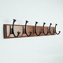 LXLA- Double Wood Hook Up Wand-Kleiderständer