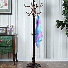 LXLA- Kleiderständer aus Holz Kleiderbügel