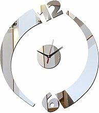 Lxlnxd Acryl Wanduhr Spiegel Uhren Für Geschenk Moderne Dekoration Balkon/Innenhof