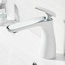 Lxlnxd Badezimmer Faucet Single Inhaber Einloch Waschbecken Mischbatterie Deck Montiert Wasserfall Bad Armaturen