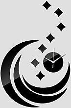 Lxlnxd Quarz Acryl Pastorale Wanduhr Moderne Dekoration Luxus Spiegel Uhren Kristall Uhren