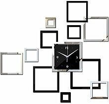 Lxlnxd Wanduhr Diy Uhren Watch Moderne Acryl Spiegel Aufkleber Wohnzimmer Quarz Nadel