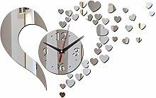 Lxlnxd Wanduhr Schwarz Schöne Kunst Diyclock Wanduhr Wohnzimmer Quarz Acryl Uhren Watch Safe Neuheit Dekoration Spiegel