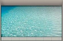 LXPAGTZ 3D Bad klebte HD Wasser Wohnzimmer Flur Küche Esszimmer Badezimmer wasserdichte rutschfeste selbst selbstklebende Aufkleber am Boden 900 * 580mm (35,4 * 22,8 Zoll) #007