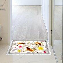 LXPAGTZ 3D Bad mit Klebeband wasserdicht Anti-Rutsch Pebble Goldfisch Wohnzimmer Diele Küche Esszimmer Bad selbst Aufklebern auf dem Boden 900 * 580mm (35,4 in * 22,8) #062
