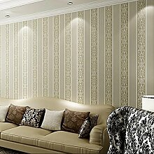 LXPAGTZ 3D vertikale Streifen Tapete Klebstoff verklebt Tuch warm minimalistisches Schlafzimmer Wohnzimmer TV Hintergrund der Europäischen Tapete lange 9.5 m * Breite 0,53 m (5 m ²) , deep khaki 19035
