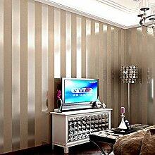 LXPAGTZ Einfache moderne Vlies-Tapete Schlafzimmer Wohnzimmer schwarzen und weißen vertikalen Streifen blau Östliches Mittelmeer Wand Tapete lange 9.5 m * Breite 0,53 m (5 m ²) , 11084
